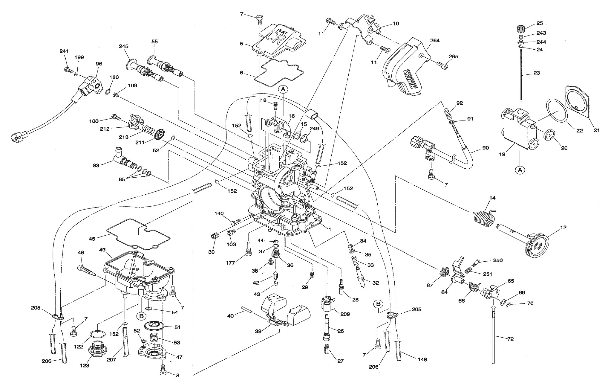 Exploded View  Parts Diagram  Keihin Fcr Mx 32  37  39  40  41 Carburetor